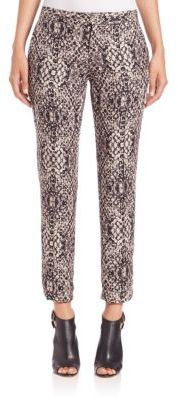 Haute Hippie The Tailored Snake-Print Pants
