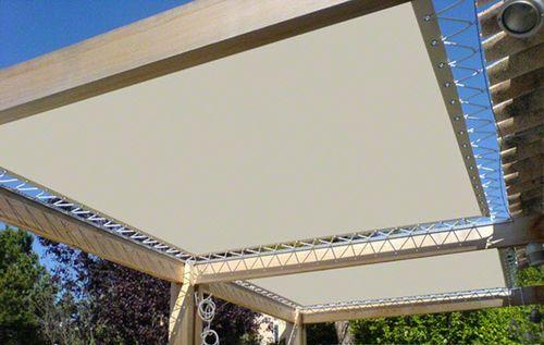 structure d 39 ombrage en toile trempovision barrisol hqe team pinterest toile and pergolas. Black Bedroom Furniture Sets. Home Design Ideas