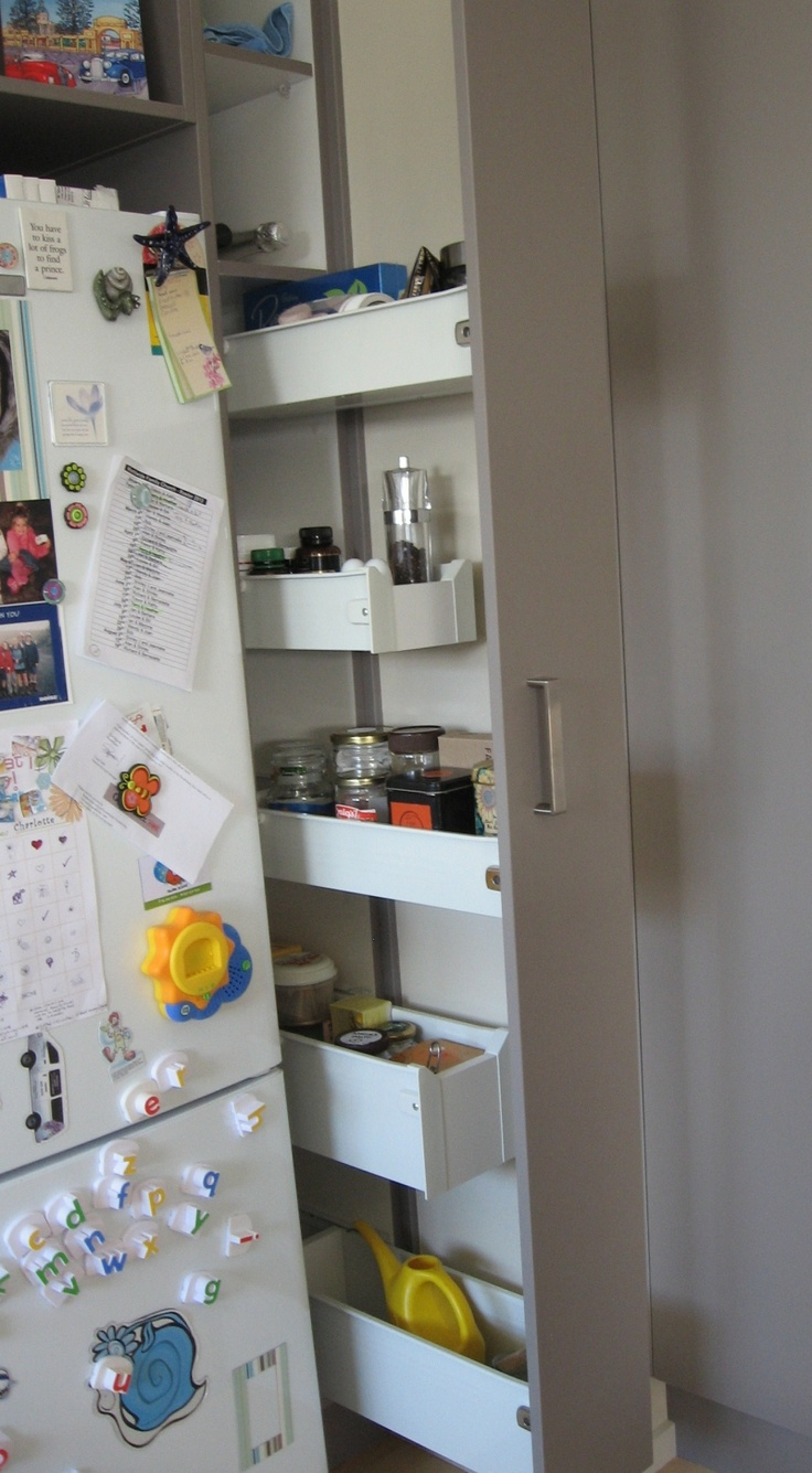 16 best narrow cupboards images on pinterest for the for Narrow kitchen cupboard ideas
