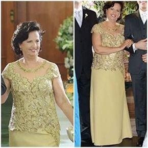 Vestidos longos confortáveis para mulheres acima de 50 anos   – Mãe da noiva