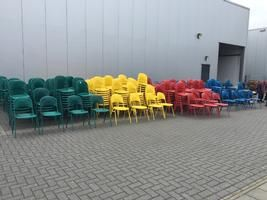 4x 150 vintage chairs from a Berliner circus