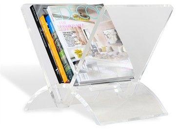 Interlude Versa Magazine Rack - transitional - Magazine Racks - Interlude Home