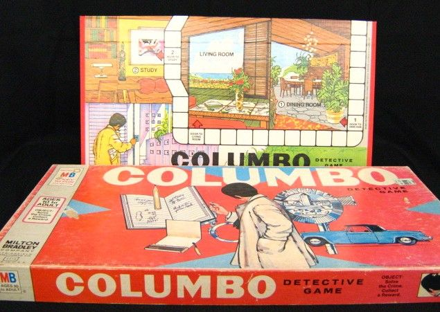 antique board games | MiltonBradley Columbo Detective Board Game, Space 300, inventory GP, $ ...