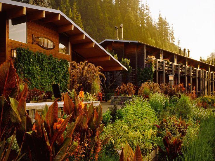 Gold Beach, OR | Tu Tu' Tun Lodge | Opened in 1970, Asian décor, hardwood, amazing views of Rogue River | Travel & Leisure's 'America's Best Coastal Hotels' | http://www.tututun.com/main.html