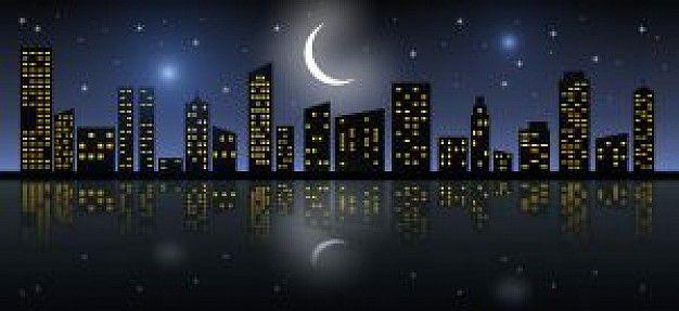 Het beeld van een stad bij nacht is natuurlijk erg kenmerkend voor schemerstad. De donkere (blauwe?) kleuren tegen het licht van de voorstellingen