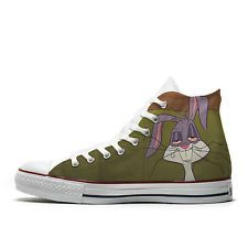 Converse AllStar scarpe personalizzate Bugs Bunny Looney Toon