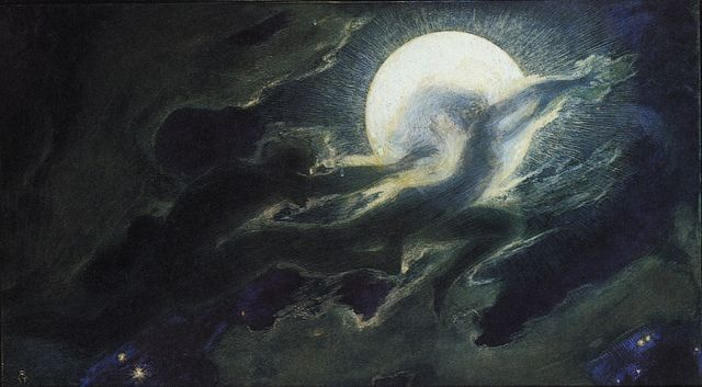 Image result for artwork of cloud ghosts and witches stealing the sun