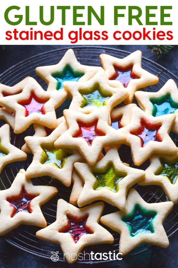 Stained Glass Cookies (gluten free ) using Jolly Rancher ...