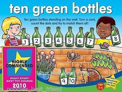 ♥ Orchard Toys - TEN GREEN BOTTLES - Educational Kids Game Gift Girls Boys ♥