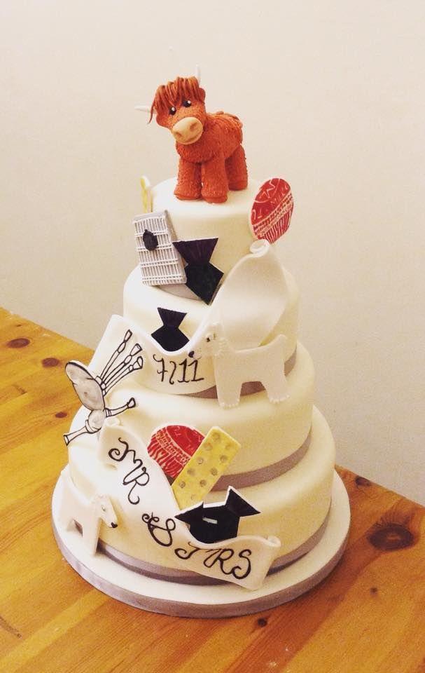 A twist on the traditional scottish wedding cake @savethedatecollective #hammishthecoo