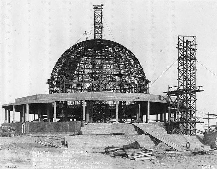Adler Planetarium under construction - 1929