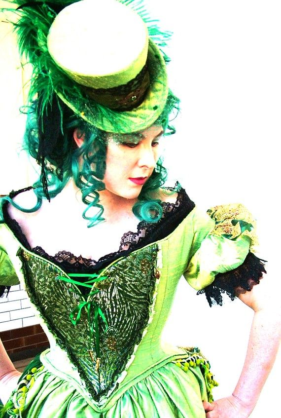 Steampunk Absinthe Faerie Costume by SparkleyJem   I used this imagine in my treasury for noteamchallenge.com and now I'm seeing it everywhere.  How fun, yes?