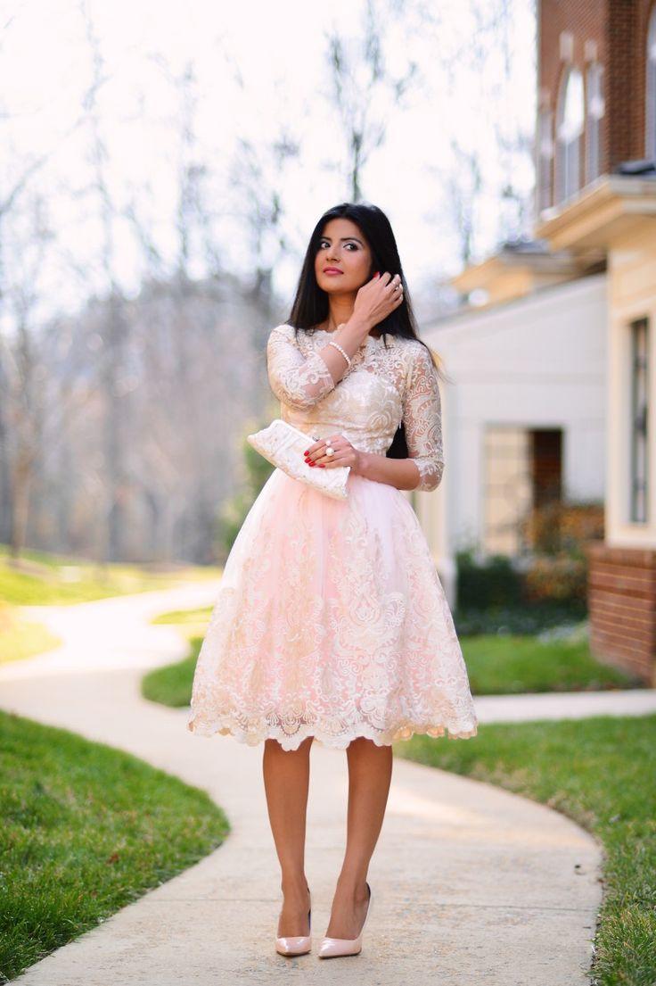 Metallic Pink Midi Dress