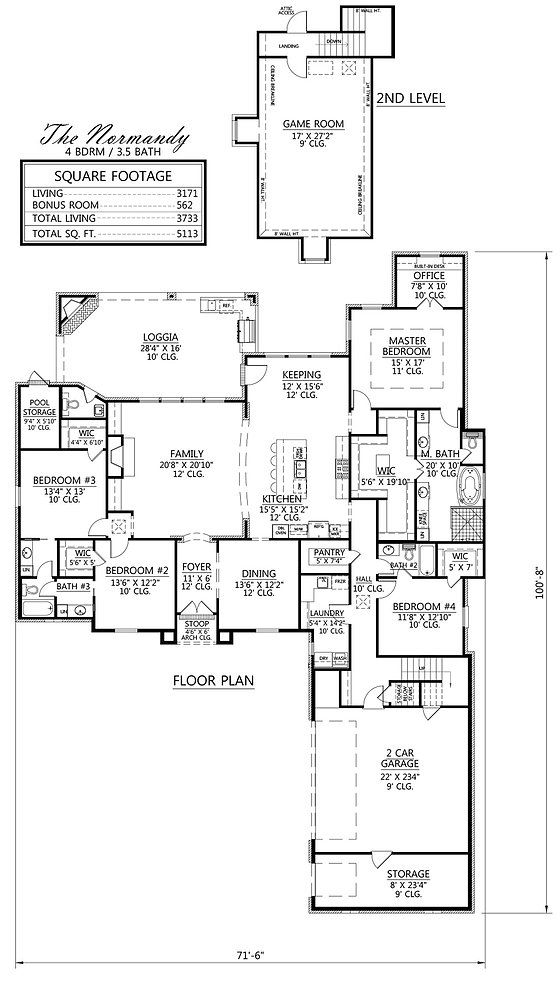 Madden Home Design The Normandy House Plan Pinterest