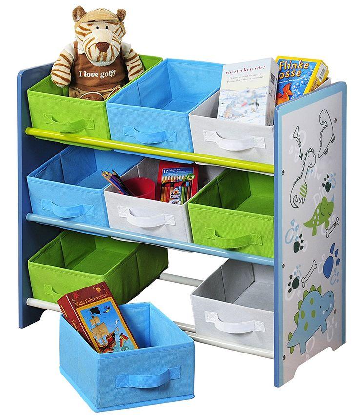 Fancy Tolles Spielzeugregal f r kleine Dino Fans Dinosaurier Regal f r das Kinderzimmer