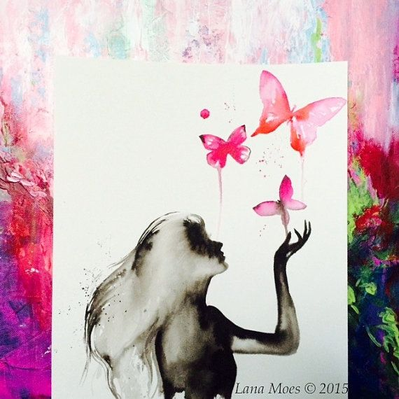 This is my new original Give Hope inspired watercolor illustration from new Collection and this piece really is quite stunning. Titled: Follow you