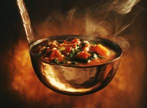 This is a vegetable soup with an array of colorful veggies in it, packed with nutrition. You can add chicken or turkey for a full meal. It never fails to get great comments when I bring it to a potluck.