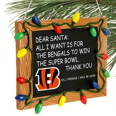 Cincinnati Bengals Chalkboard Sign Ornament