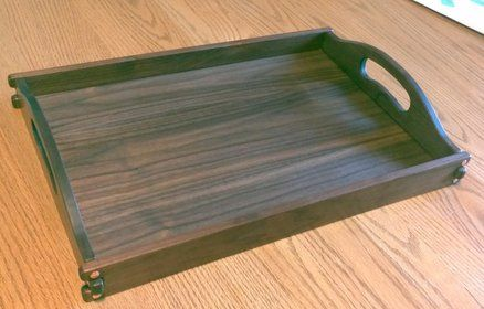 Serving Tray in Walnut and Copper