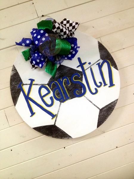 """Approximately 21"""" X 21"""". Personalized with any saying, first name, last name, initials, phrases, etc.Custom made...hand cut 1/4"""" wood, sanded and hand painted!!"""
