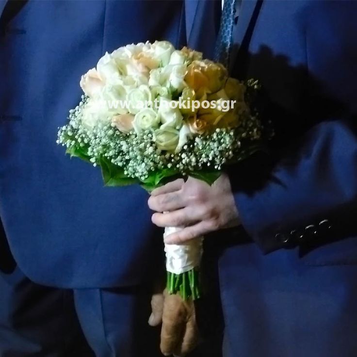 Nυφική Ανθοδέσμη-Μπουκέτο Γάμου σε απαλές αποχρώσεις