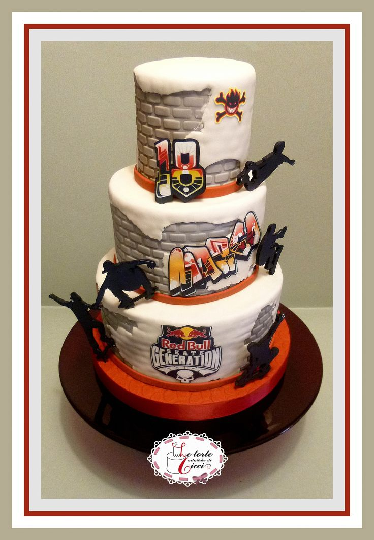 skateboard passion for 18th birthday cake