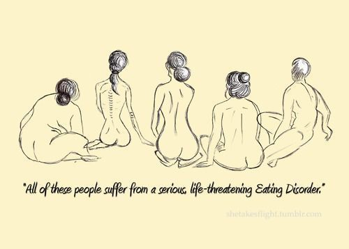 Eating disorders DON'T discriminate.  You don't have to be emaciated to have a serious eating disorder.