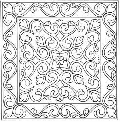 """16.5"""" Provence/ could also be used as a coloring page for adults"""