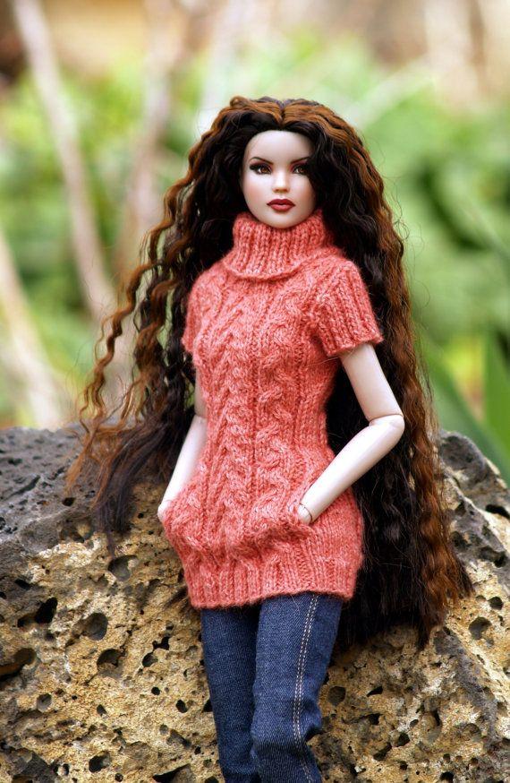 Free Knitting Patterns For Tonner Dolls : Trendy Tunic-TW--PDF Knitting Pattern for Robert Tonners ...
