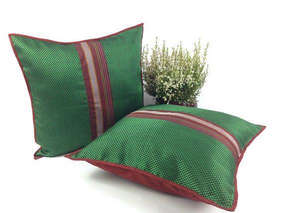 Bohemian Pillow Pillow Sham Cover 16X16 Pillow by FusionHomeStudio