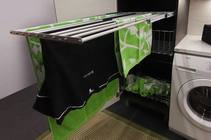 Kätevä pyykkiteline!  http://nelko-keittiot.fi/kodinhoitohuone/