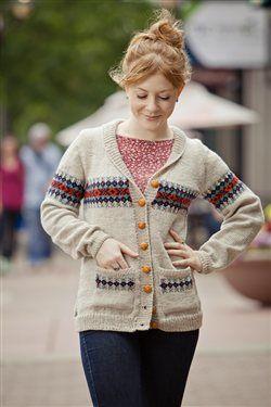 Cornflower Cardigan - Knitting Daily