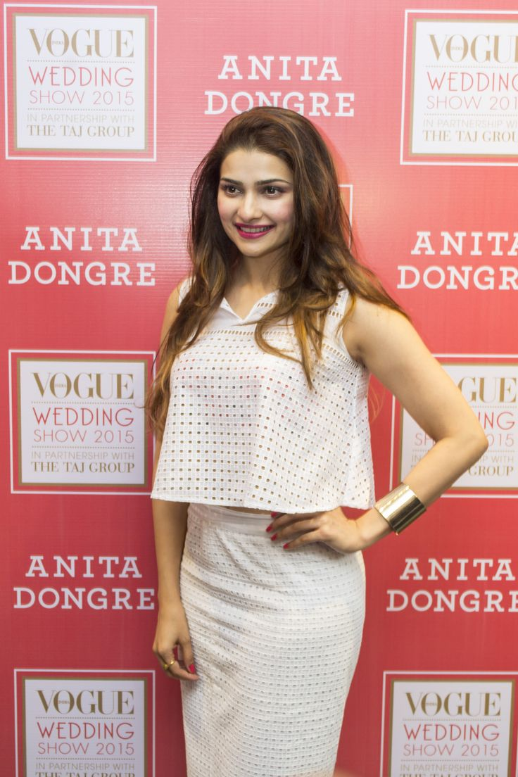 Actress, Prachi Desai in an eyelet #top and #skirt from AND by #Anita Dongre.