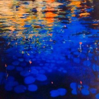 John Gibson - Artist Lillies 5  Mixed Media