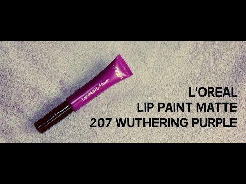 MichelaIsMyName: L'OREAL Lip Paint Matte 207 Wuthering Purple - App...