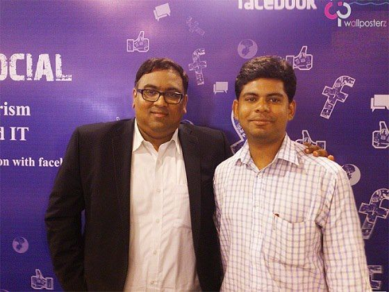 Mr.Sachin Rao - Head, Facebook-India (SMB) & Mr.Anshine Thomas, Head-Corporate Sales, Wallposterz Business Media Consultants. Its a moment of pride & recognition for Team Wallposterz. Wallposterz — with Anshine Thomas.