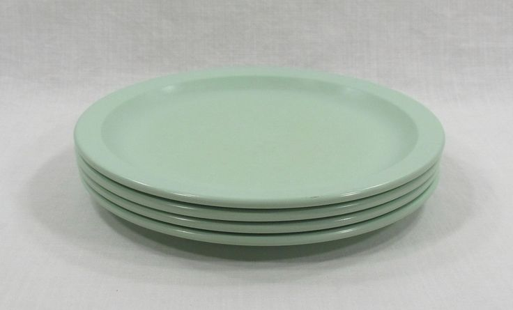 Texas Ware Melamine Pastel Seafoam Green Dinner Plates Replacement by VintageEtcEtc on Etsy
