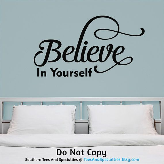 Believe In Yourself Personalized Word Art Vinyl Wall Decal Wall Words  Sticker by TeesAndSpecialties. Available