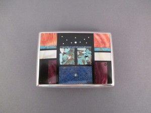 Sterling Silver & Multi-Stone Inlay Belt Buckle by Navajo jewelry artist, Jimmy Poyer $595-