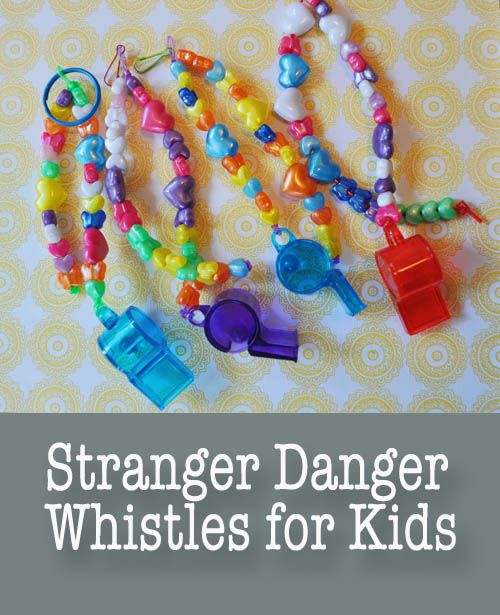 Stranger Danger Whistles for Kids - great idea, but how do I get my 8 year old son to not blow it constantly?