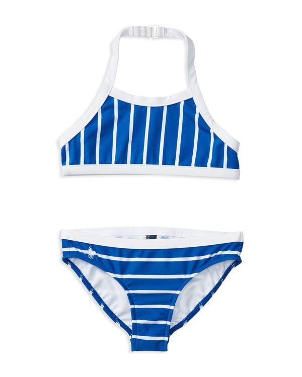 Ralph Lauren Childrenswear Girls' Stripe 2-Piece Swimsuit - Sizes 2-6X