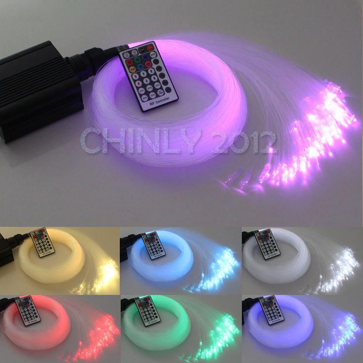 2015 NEW 16W RGBW 28Key RF remote LED Fiber Optic Star Ceiling Lights Kit 450pcs 3M 0.75mm optic fiber lighting