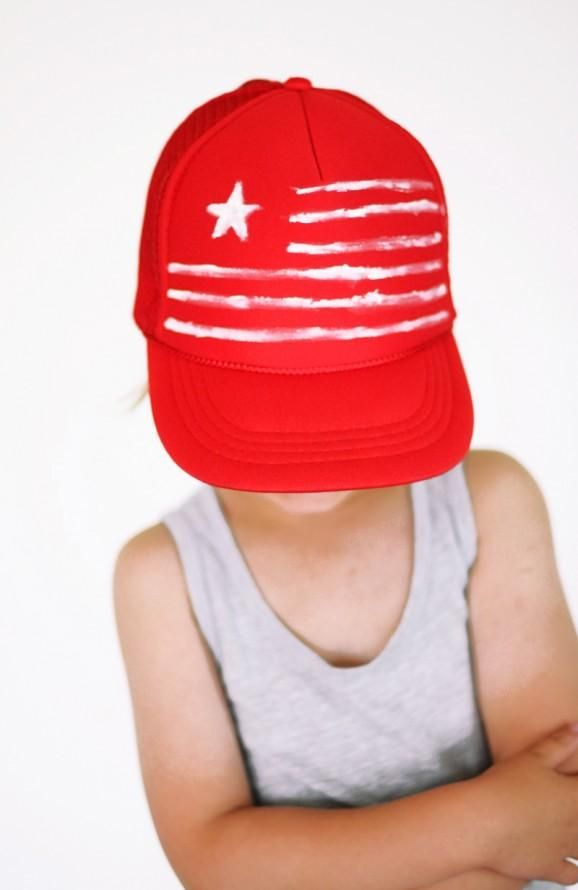 DIY 4th of July   DIY Fourth of July Cap  48e59fb2608
