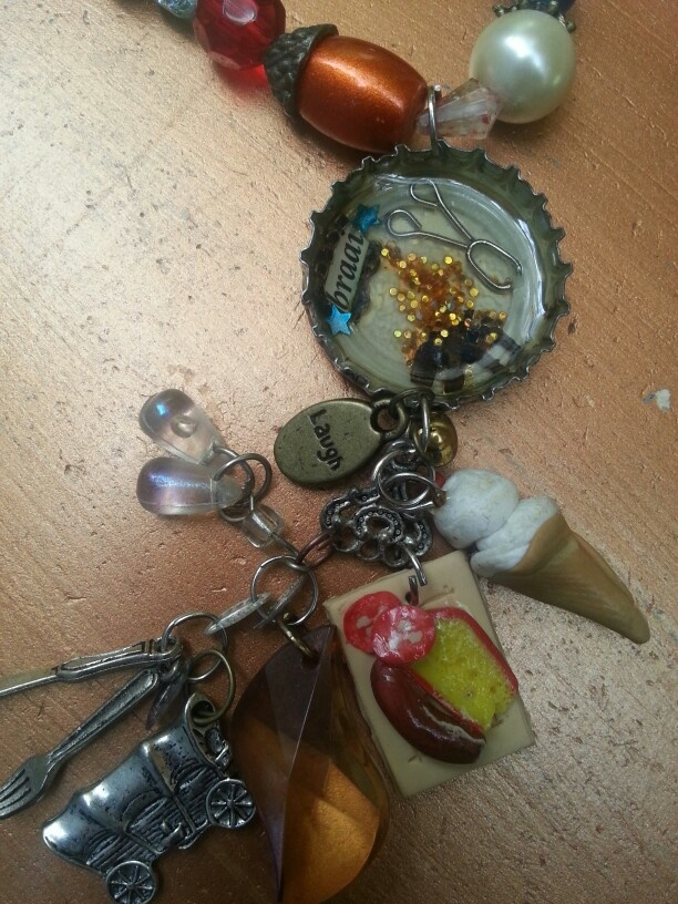 Bottle cap. Resin.Polymer clay etc. By Caren. Braai is Afrikaans word for Barbeque