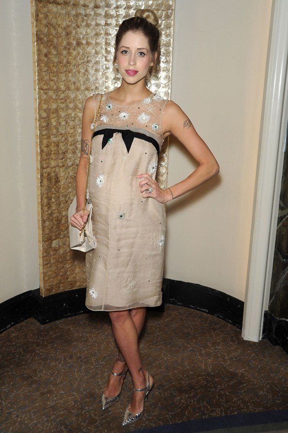 Peaches Geldof attended the Temperley London show