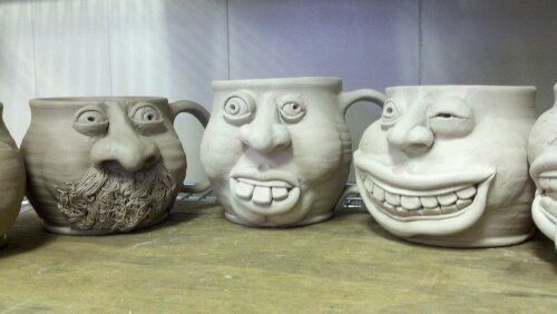 face mugs: one day i will have a kiln in my classroom