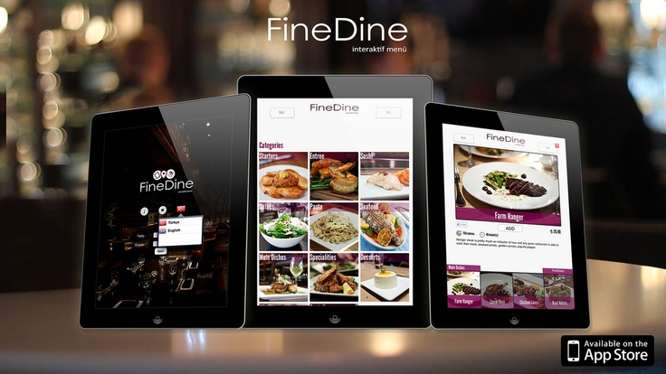 Your guests can enjoy a new fine dining experience by using the digital interactive menus, which are designed just for your place.