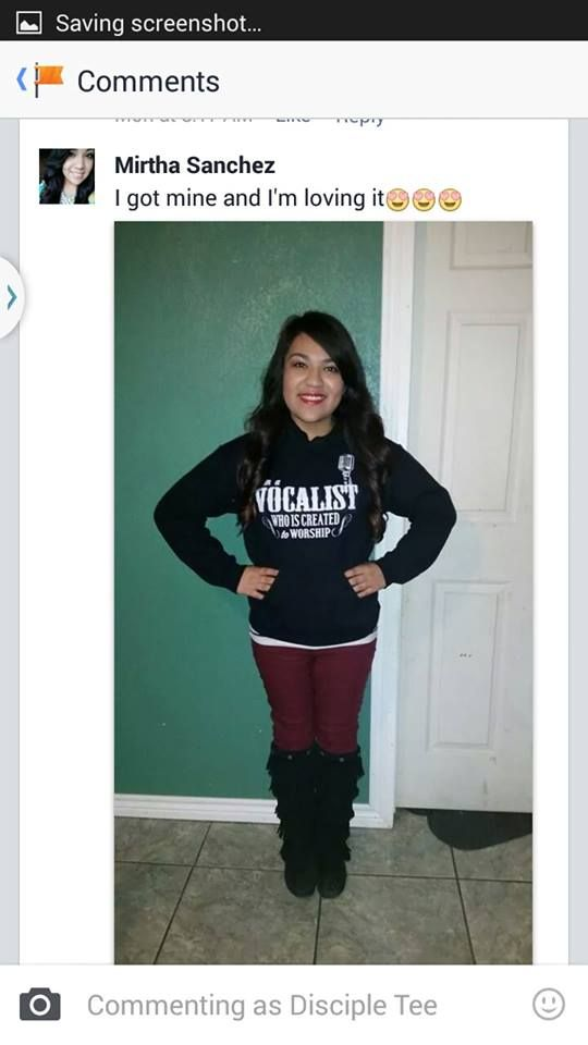 Thanks Mirtha for sharing your awesome hoodie pic. Nice Smile! If your still want one get it here http://teespring.com/vwicw