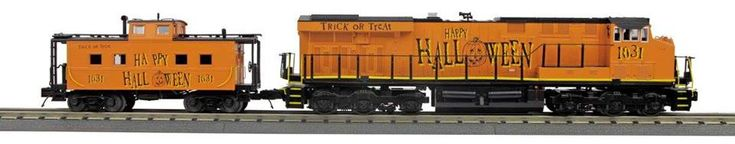 Halloween Train & Caboose by MTH - http://www.legacystation.com/blog/halloween-train-caboose-by-mth/ - New Halloween Train announced by MTH Uncatalogued and Sold Out in one day… We have limited suppplies left so order today! (no guarantees it will be here for Halloween). I even has running lights on the engine- For more detailed description visit Halloween Train    - Legacy Station Whistles