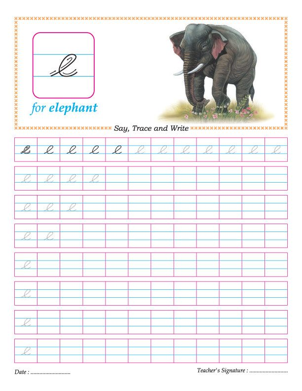 Worksheets Correct Cursive Writing Letter E small letters letter e and cursive on pinterest